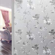 Frosted 3D Flower Privacy Glass Window Film Sticker Bathroom Office 200 x 60CM