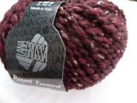 8,88€/100g Lana Grossa Royal Tweed 50g Fb 071 burgund meliert
