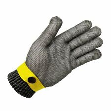 Size L Glove Safety Metal Cut Proof Stab Resistant Stainless Steel Mesh Cotton