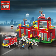 New ENLIGHTEN Fire Rescue Bureau Branch Sation Centre Blocks Minifigures Toys