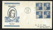 #892 5c Famous Americans - Inventors - Elias Howe -  Linprint FDCB4
