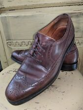 VINTAGE RALPH LAUREN ITALY BROWN LEATHER WINGTIPS OXFORDS CASUAL SHOES 12 M 46