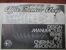 1981-1982 PUB ALFA ROMEO AVIO REPAIR OVERHAUL AERO ENGINES MAINTENANCE AD
