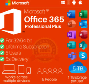 ✅⭐MS®Officé365 ✔️ ProPlus 2019 ✔️ 5 Pcs✔️ ACCOUNT✔️ Mac/Win 5TB⭐✅+