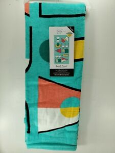 Beach Vibes Beach Towel 100% Cotton Soft 34in x 64in