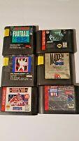 Sega Genesis Sports Games Lot (6) NFL 92 95 American Football Madden