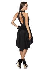 SATIN BLACK DRESS LONG TAIL KEYHOLE BACK & FRONT SEXY SLEEK SMART SPECIAL 10 12