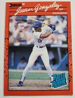 Juan Gonzalez Donruss 1990 Error MLB Trading Card #33 Texas Rangers