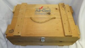 "All-Clad Metalcrafters LLC Wood Pine Retail Crate Box - 23.5"" x 10.5"" x 14.5"""