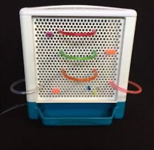 """Lite Brite 9"""" Cube Hasbro 2001 Square W/ Lots Of Colored pegs & Long Pegs"""