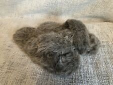 Ladies Fluffy Crossover Slider Slippers, M&S, Worn Once, Size M