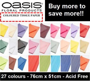 TISSUE PAPER SHEETS COLOURED BLACK WHITE WRAPPING 50cm x 75cm NEW ACID FREE