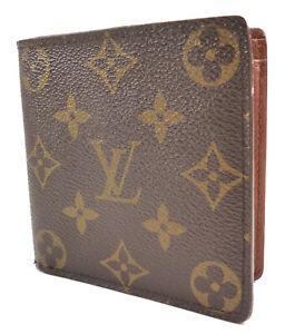 Louis Vuitton Authentic Wallet Men's LV Monogram Canvas & Leather Marco Bifold