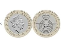 2018 100th Anniversary Of Royal Air Force 2 Pound Coin