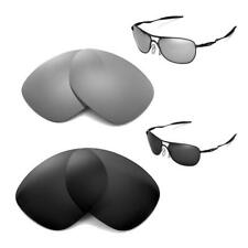 Walleva Polarized Black+Titanium Lenses For Oakley New Crosshair (2012 & after)