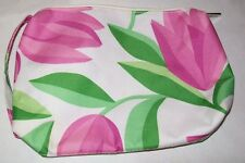 Clinique Tulips Makeup Bag Pinks Green and White NWOT