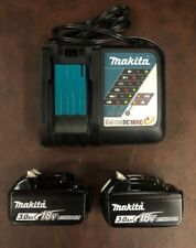 New Makita Oem Dc18Rc Charger, Two Makita Bl1830B 18V Batteries, Bl1830Bx2