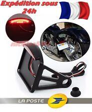 Support de Plaque déporté MÉTAL Phare Eclairage Plaque Harley Custom CafeRacer