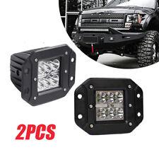 "2x 4Inch 36W CREE LED Work Light Pods Flush Mount JEEP SUV UTE Bumper 5"" Lamps"