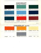 1966 1967 1968 1969 CHEVROLET TRUCKS VAN PICKUP PAINT CHIPS 67 DUPONT 5 15PC