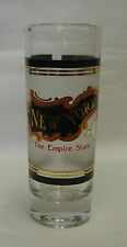 New York NY Empire State Gold Frosted Souvenir Double Shooter Bar Shot Glass