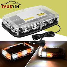 30W White/Amber 36 LED Emergency Warning Flash Roof Top LED Strobe Light Bar