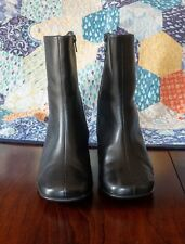 Fabulous quality leather high ankle boots black Evans Comfort size 4W/4.5 BNWT