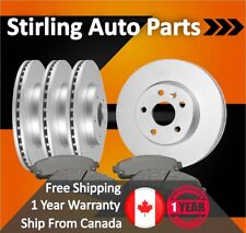 2012 2013 For Nissan Versa Coated Front & Rear Brake Rotors & Pads