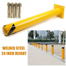 """New listing Guarded Steel pipe safety column Safety Bollard Post Barrier Yellow 24""""H 4.5""""D"""