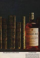 1962 Hudson Bay Whiskey Scotch Vintage Bottles PRINT AD