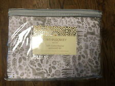 4pc Cynthia Rowley Flannel Queen Sheet Set Gray Graphite Woodland Deer Holiday