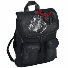 Disney Minnie Mouse Rhinestone  Black 12'' Medium size Girls School Backpack
