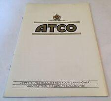 ATCO Mowers Tractors Cultivators ComprehensiveOriginal 1970s /80s Sales Brochure