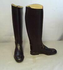 Regent Chaser Leather Long Riding Boots Size 7 Standard Calf