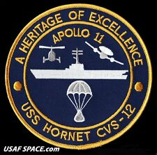 "Apollo 11 Recovery Ship - Uss Hornet Cvs-12 - A Heritage Of Excellence 5"" Patch"