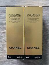 Qty 2: Chanel Sublimage Ultimate Regeneration Eye Cream, Nib, 3 Ml/.1 Fl Oz Ea