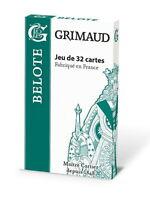 Jeu De Cartes 32 Cartes Grimaud Belote Fabriqué En France