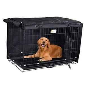 Dog Crate Cover Durable- Fits 24 30 36 42 48 Inches Wire 24 Inch Rhombus Black