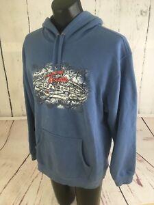 Team Realtree Adult Mens Blue Hoodie Sweatshirt Long Sleeve Size Large