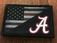 Alabama Football USA FLAG Morale Patch Tactical Military Army Badge Crimson Tide