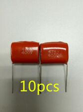 10x CBB21 CBB22 475J Metallized Polyester Film Capacitor 4.7uF ±5% 400VDC P=25mm