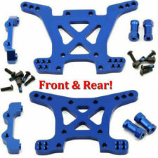 Traxxas 6838X + 6839X Front & Rear Aluminum Shock Tower Blue Slash 4x4