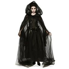 Black Hooded Womens Cape
