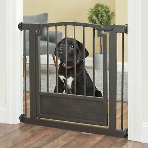 """34""""-40"""" Royal Indoor Dog & Pet Adjustable Metal Safety Gate - Black"""