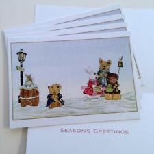 5 Michael Hague Christmas Holiday Cards - Rabbit Bear Mouse Caroling