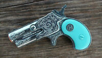 CIRCLE N Toy Cap Gun DYNA-MITE Derringer with Turquoise grips