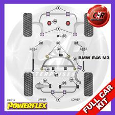 BMW E46 M3 99-06 Rr Subframe Bushes, Caster Wishbone Bushes Powerflex Full Kit