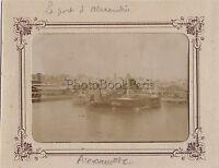 Egitto il Port Alessandria Foto Vintage Citrato Ca 1900