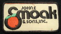 """SMOAK~ CITRUS GROVE EMBROIDERED SEW ON PATCH COMPANY ADVERTISING 4"""" x 2"""""""