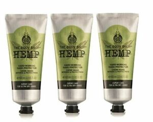 The Body Shop Hemp Hand Protector 100ml Hand Cream x 3  fast dispatch RRP £36